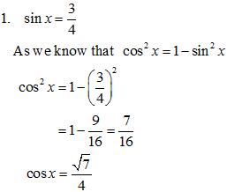 Trigonometry MCQs